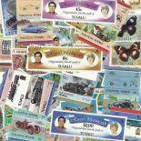 Sammlung Von Briefmarken Tuvalu Verwendet