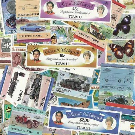 Tuvalu - 25 timbres différents