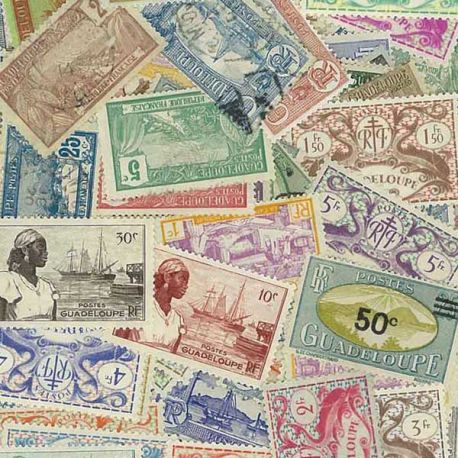 Guadeloupe - 25 timbres différents