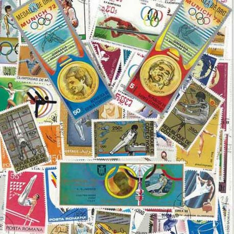 Gymnastique : 100 timbres différents