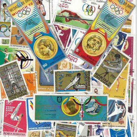 Kunstturnen: 100 verschiedene Briefmarken