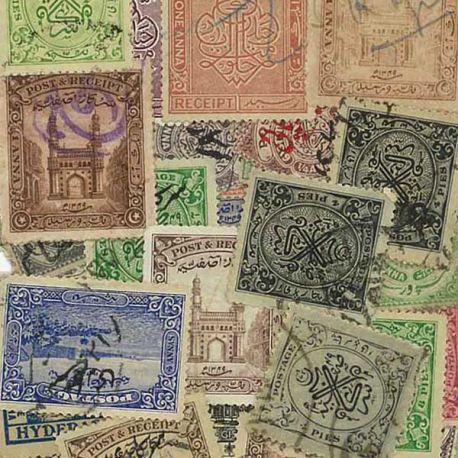 Haiderebad - 25 verschiedene Briefmarken