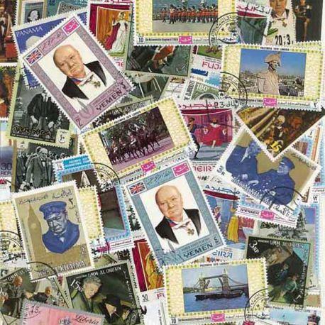 Geschichte von England: 100 verschiedene Briefmarken