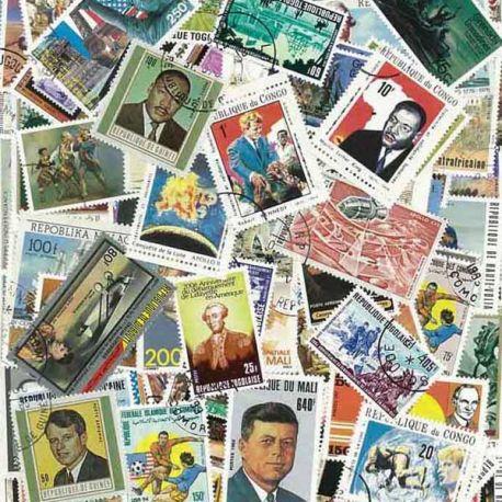 Histoire Des Usa : 100 timbres différents