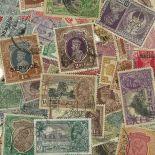 Sammlung gestempelter Briefmarken Indien englisch