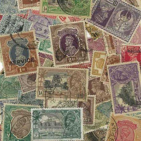 Indien Englisch-150 verschiedene Briefmarken