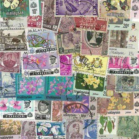 Johore - 10 different stamps