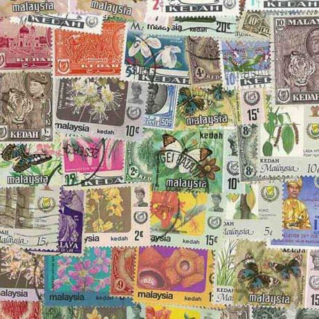 Kedah - 25 verschiedene Briefmarken