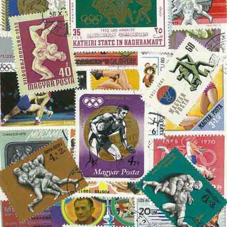 Collection de timbres Lutte oblitérés