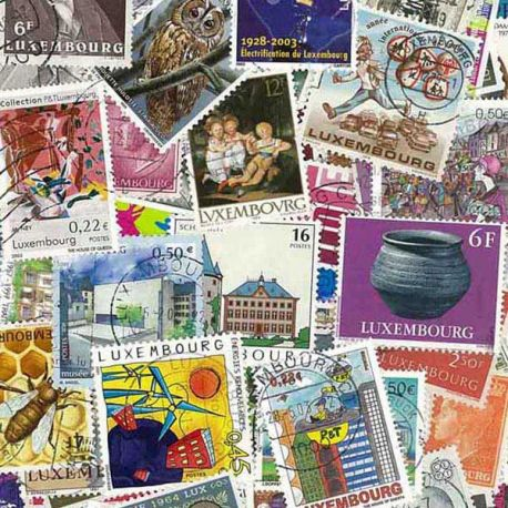 Luxembourg - 50 timbres différents
