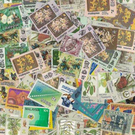 Malaysia - 50 different stamps
