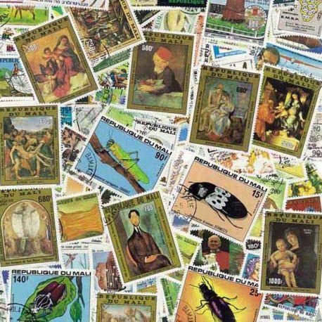 Mali - 50 verschiedene Briefmarken