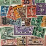 Sammlung von Briefmarken Memel Collection Briefmarken