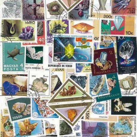 Collection de timbres Mineraux oblitérés