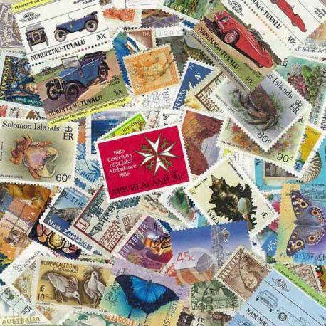 Ozeanien - 100 verschiedene Briefmarken