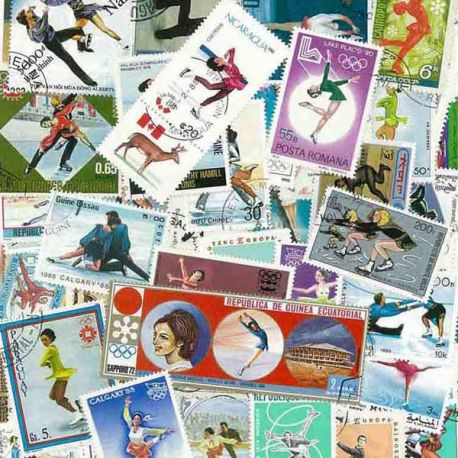 Collection Timbres sports hiver Collection de timbres Patinage Artistique oblitérés à partir de 2,50 €