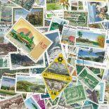 Collezione di francobolli paesaggi cancellati