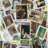 Collection de timbres Peintres Espagnols oblitérés