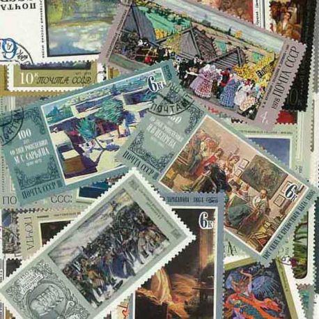 Peintres Russes : 50 timbres différents