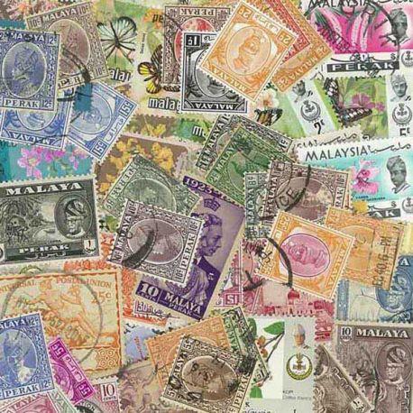 Perak - 10 verschiedene Briefmarken