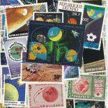 Sammlung gestempelter Briefmarken Planeten