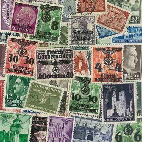 Regierung General - 25 verschiedene Briefmarken