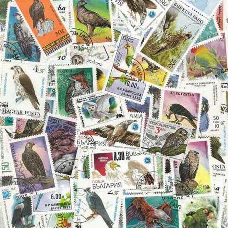 Collection de timbres Rapaces oblitérés