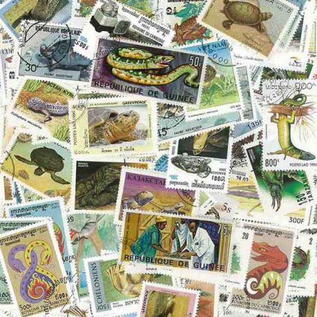 Collection de timbres Reptiles oblitérés