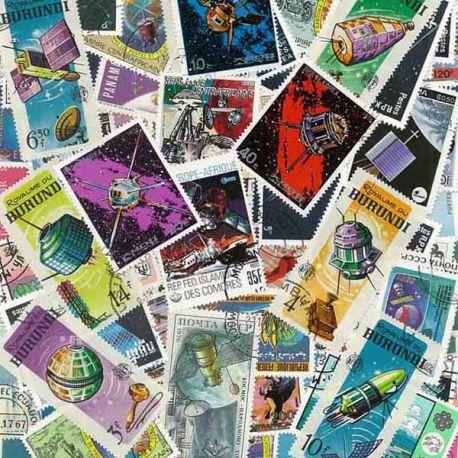 Satelliten: 100 verschiedene Briefmarken