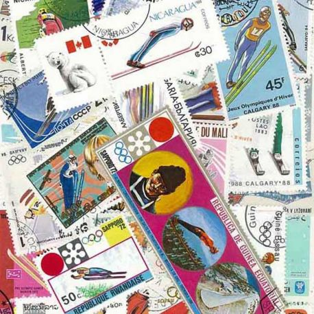Collection Timbres sports hiver Collection de timbres Sauts oblitérés à partir de 16,00 €