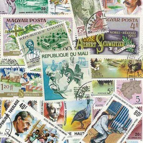 Collection de timbres Schweitzer oblitérés