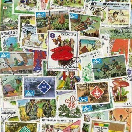 Collection de timbres Scoutisme oblitérés