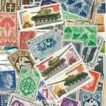 Sammlung gestempelter Briefmarken Sekunde Weltkrieg