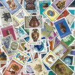 Collezione di francobolli sculture cancellati