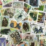 Stamp collection used Monkeys