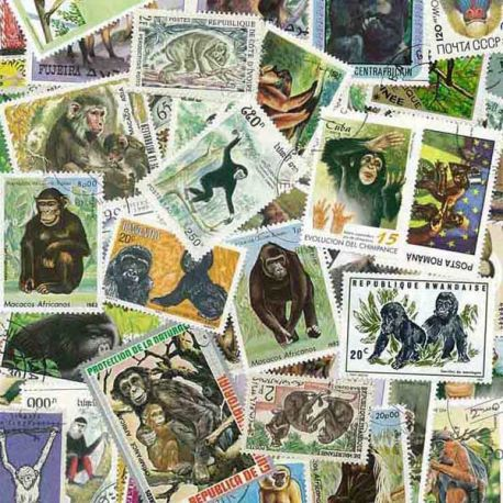 Collection de timbres Singes oblitérés