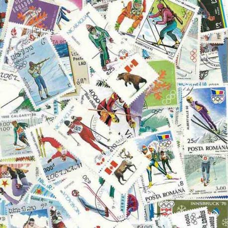 Collection Timbres sports hiver Collection de timbres Ski oblitérés à partir de 2,50 €