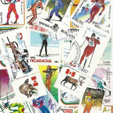 Collection Timbres sports hiver Collection de timbres Ski Biathlon oblitérés à partir de 5,00 €