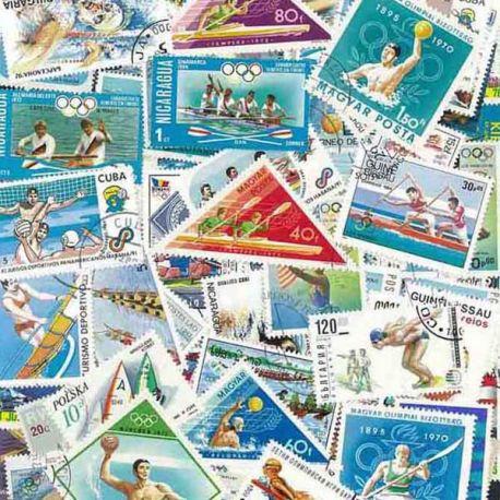 Wassersport: 100 verschiedene Briefmarken