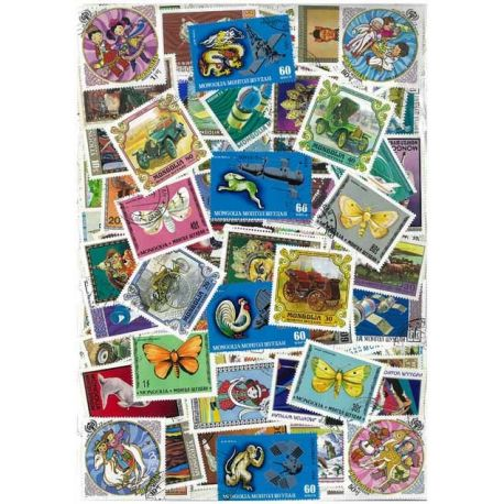 Mongolei - 100 verschiedene Briefmarken