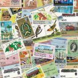 Sammlung gestempelter Briefmarken St Christophe & Nevis