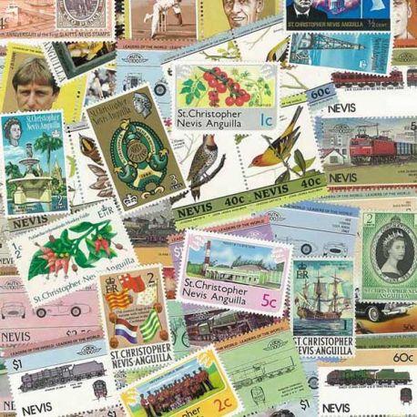 St Christophe & Nevis - 10 timbres différents