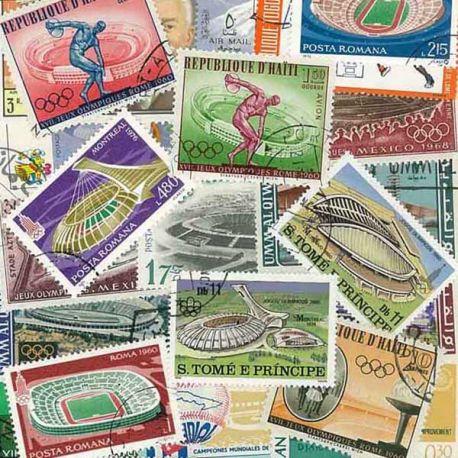 Stades : 25 timbres différents
