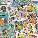 Collezione di francobolli turca e Caiques usati