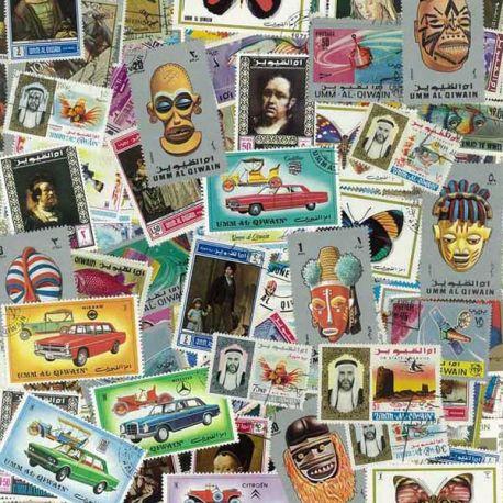 Äh Al Qiwain - 100 verschiedene Briefmarken