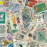 Sammlung gestempelter Briefmarken Uruguay