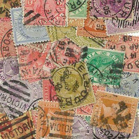 Collection de timbres Victoria oblitérés