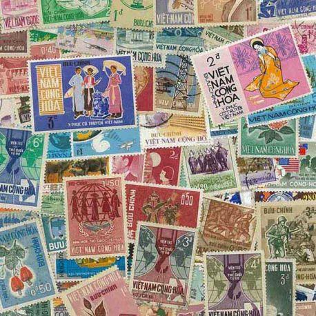 Vietnam Sud - 25 timbres différents