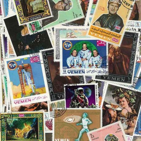 Jemen-Königreich - 100 verschiedene Briefmarken