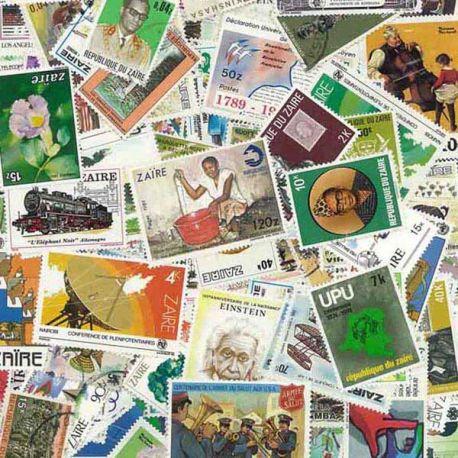 Zaire - 25 timbres différents